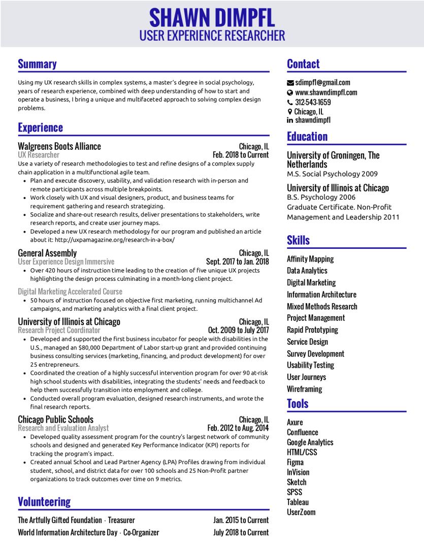Shawn DImpfl Resume 2-5-19 image